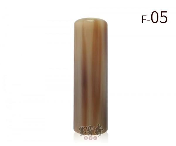 赤牛角臍帶章/胎毛章-F05(圓) 透絲款