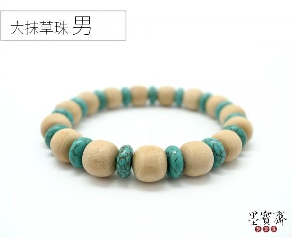 【大人】抹草珠避邪手環-綠珠(男生)