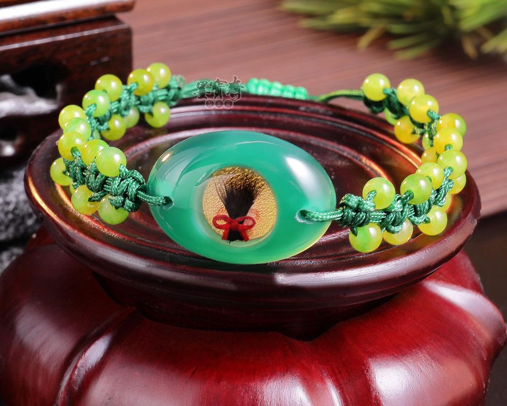 綠玉髓胎毛手鍊